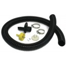Algreen 81052 Rain Barrel Deluxe Diverter Kit Black