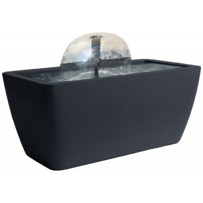 Algreen Manhattan Contemporary Slate Water Feature and Pond, 50-Gallon