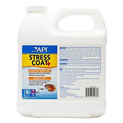 API STRESS COAT Aquarium Water Conditioner 64-Ounce Bottle