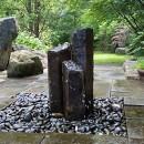 Aquascape Mongolian Basalt Stone Fountain Columns, Set of 3, 24-Inch, 30-Inch, 36-Inch | 58062