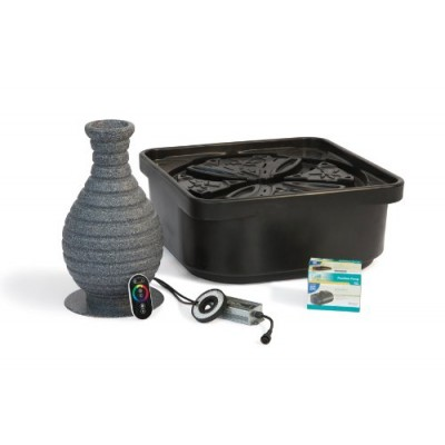 Atlantic Water Gardens Fountain Kit, Color Changing Vase with Pump and Basin