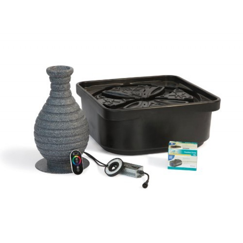 Atlantic Water Gardens Fountain Kit Color Changing Vase