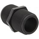 "Banjo NIP075-SH Polypropylene Pipe Fitting, Short Nipple, Schedule 80, 3/4"" NPT Male, 1-13/16"" Length"