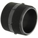 "Banjo NIP300-SH Polypropylene Pipe Fitting, Short Nipple, Schedule 80, 3"" NPT Male, 3"" Length"