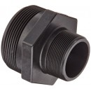 "Banjo RN300-200 Polypropylene Pipe Fitting, Reducing Nipple, Schedule 80, 3"" NPT Male x 2"" Length"
