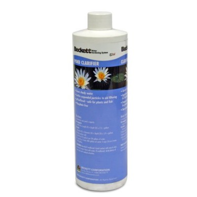 Beckett Pond Plus Water Treatments Pond Clarifier 16oz Bottle for Ponds Model CPPC16