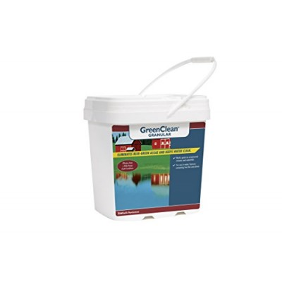 BioSafe Systems GreenClean Granular Algaecide - 20 lbs - String Algae Control for Koi Pond, Fountain, Waterfall, Water Features on Contact. EPA Reg...