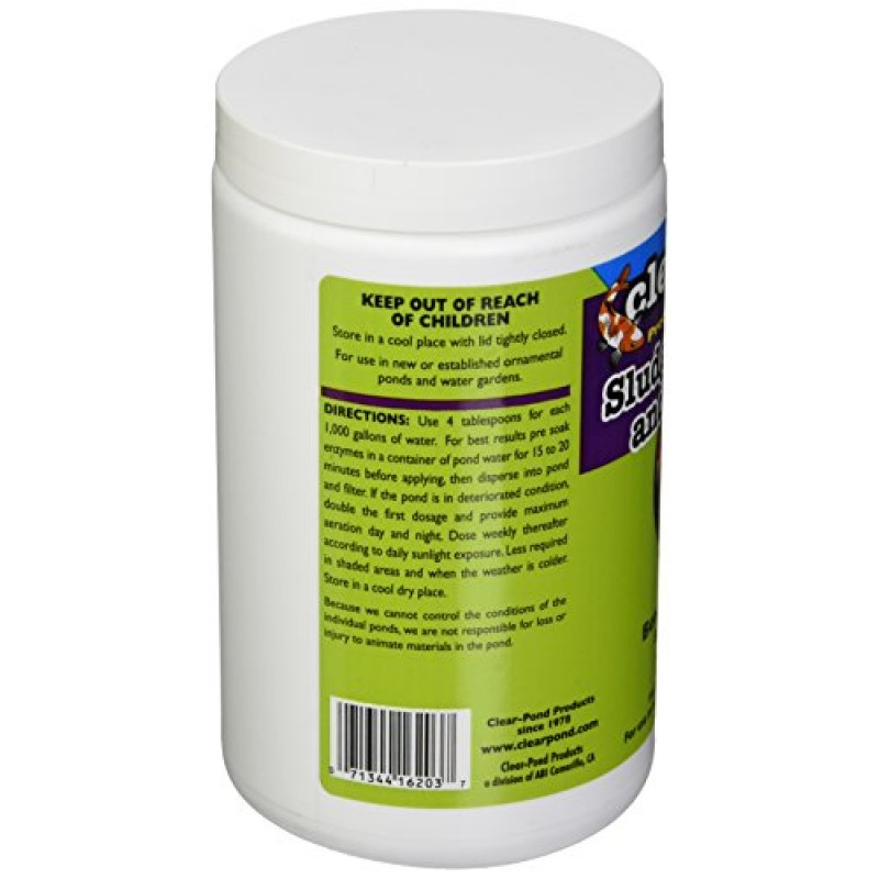 Clear Pond Dry Sludge Remover And Clarifier Jar 2 Pound