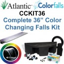 "Atlantic Water Gardens CCKIT36 Complete Color Changing Colorfalls Kit - 36"" Spillway, 48 Colors, Basin, Pump, Hose & Fittings"