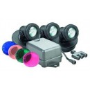 Danner 02393 Pondmaster Submersible Halogen Pond Lightset, Three Light with Transformer