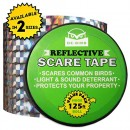 Bird Repellent Scare Tape - Simple Control Device to Keep Away Woodpeckers, Pigeons, Grackles and More. Defense Works Great with Netting and Spikes...