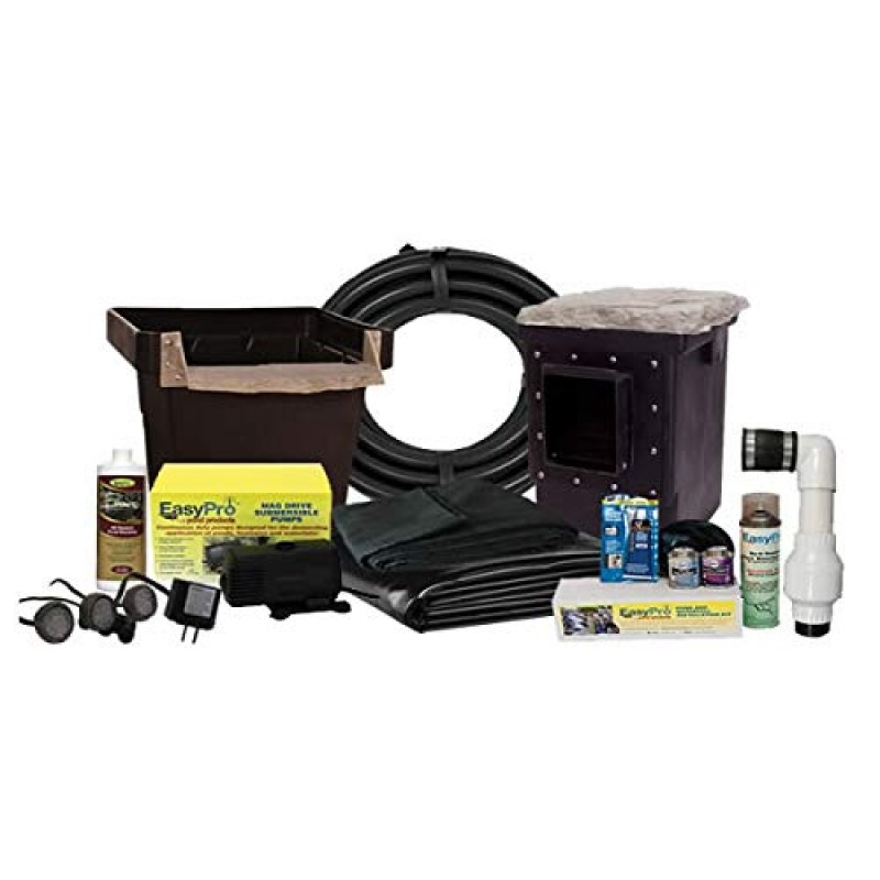 Easypro pond products complete pond kit for 6 39 x 11 39 pond for Small pond kits