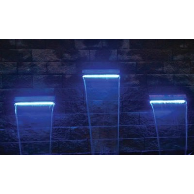 "EasyPro Pond Products Underwater LED Light Strip Waterfall Spillway Light, 23"", Cool Blue"