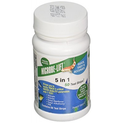Ecological Labs TEST5 5 In 1 Test Strip Kit, Pack of 50