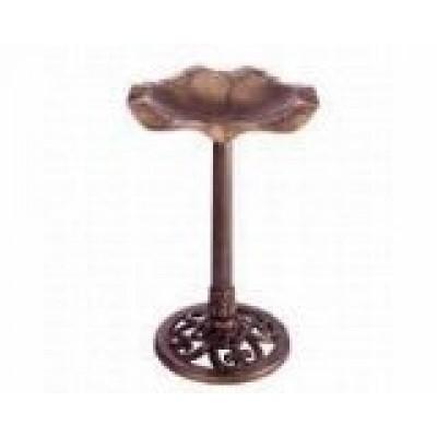 Gardman BA01282 Resin Copper Lily Bird Bath Antique
