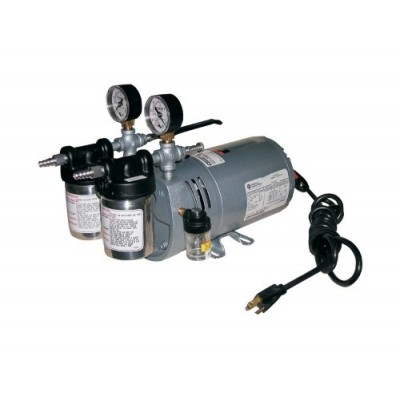 Gast 0523-V4-SG588DX Portable Rotary Vane Vacuum Pump, 100-115 V, 50/60 Hz, 4.5 cfm