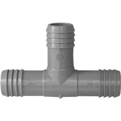 Genova Products C351410 1-Inch Plumbing/Irrigation Poly Insert Pipe Tee - 10 Pack