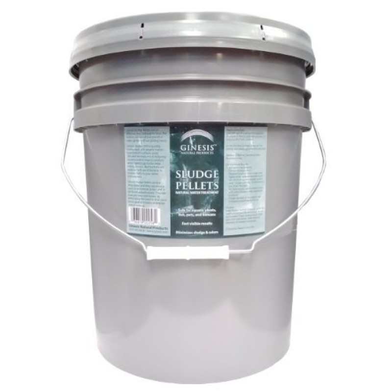 25 pound pail of ginesis sludge pellets natural water for Ornamental fish pond supplies