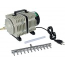 Hydrofarm Active Aqua Commercial Air Pump, 12 Outlets, 112W, 110 L/min