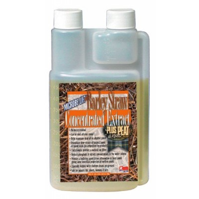 Microbe Lift 16-Ounce Pond Barley Straw Concentrate Plus Peat Extract Concentrate B6