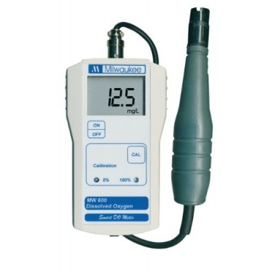Milwaukee MW600 LED Economy Portable Dissolved Oxygen Meter with 2 Point Manual Calibration, 0.0 - 19.0 mg/L, 0.1 mg/L Resolution, +/-1.5 percent A...