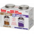 Oatey 30246 PVC Regular Cement and 4-Ounce NSF Purple Primer Handy Pack, 4 oz