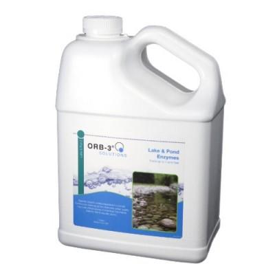 Orb-3 Lake and Pond Enzymes Jug, 1-Gallon