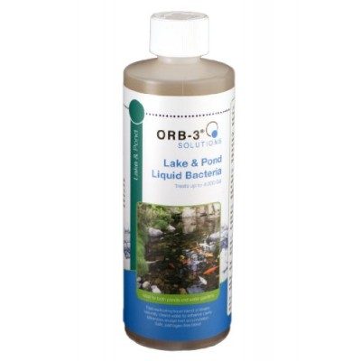 Orb-3 Lake and Pond Liquid Bacteria Bottle, 1-Pint