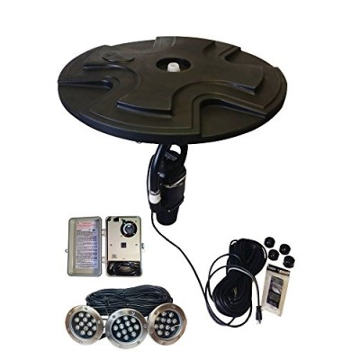 Outdoor Water Solutions 1/2 HP Floating Pond Fountain & Display Aerator with LED Lights