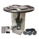 Outdoor Water Solutions 1 HP Floating 100' Cord Pond Fountain & Display Aerator with LED Lights