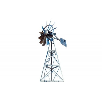 Outdoor Water Solutions AWS0011 12-Feet Galvanized 3-Legged Aeration System Windmill