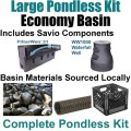 "15 x 30 Large Pondless Waterfall Kit With Anjon 6,100 GPH Hybrid Mag Drive Pump, Savio 31"" Waterfall & Savio Waterfall Well PLS0"