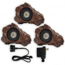 Patriot 3 LED Submersible Rock Light Set for Ponds & Water Features