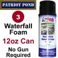 Waterfall Foam for Koi Ponds - 3 Pack of 12oz Cans