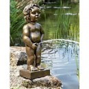 Belgium Boy Pond Statue Gold Color