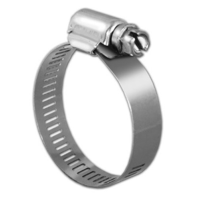 Pro Tie 33005 SAE Size 16 Range 13/16-Inch-1-1/2-Inch Regular Duty All Stainless Hose Clamp, 10-Pack