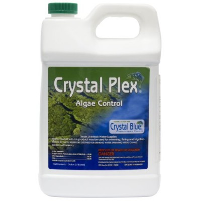 Crystal Plex Copper Sulfate Pond Algae Control Liquid (4 Gallons)