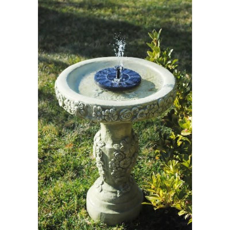 Solarrific G3033 Floating Solar Fountain For Bird Bath