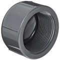"Spears 848 Series PVC Pipe Fitting, Cap, Schedule 80, 1/2"" NPT Female"