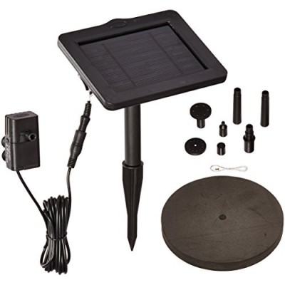 Smart Solar 21410R01 SunJet 150 Solar-Powered Water Pump and Solar Panel for Bird Baths and Other Small Water Features, Pumps 40 Gallons Per Hour