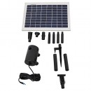 Sunnydaze 8W Outdoor Solar Pump and Panel Fountain Kit with 2 Spray Heads, 200 GPH, 80-Inch Lift