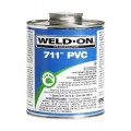 Weldon 10123 Gray 711 Heavy-Bodied PVC Professional Industrial-Grade Cement Medium-Setting Low-Voc, 1/2 Pint, Gray