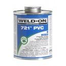 Weldon 10163 Blue 721 Medium-Bodied PVC Professional Industrial-Grade Cement Fast-Setting Low-Voc, 1/2 Pint, Blue