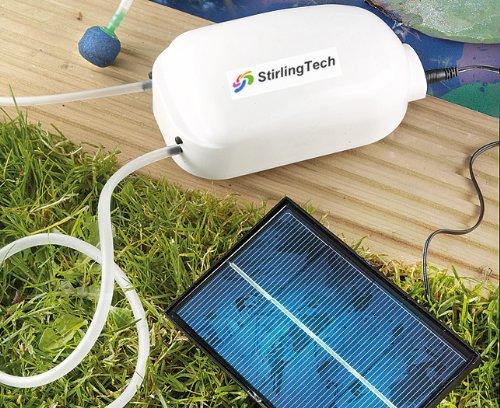 Solar aerators for Fish tank vs pond